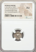 Ancients:Roman Imperial, Ancients: Anonymous Issues. Constantinople Commemorative (ca. AD 430). AR one-scripulum (15mm, 11h). NGC AU....