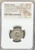 Ancients:Roman Imperial, Ancients: Diocletian (AD 284-305). BI antoninianus (22mm, 4.59 gm,6h). NGC MS 5/5 - 4/5, Silvering....