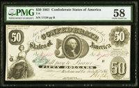 T8 $50 1861 PF-2 Cr. 15 PMG Choice About Unc 58