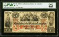 Confederate Notes:1861 Issues, T31 $5 1861 PF-1 Cr. 243 PMG Very Fine 25.. ...