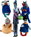 Music Memorabilia:Memorabilia, The Beatles Yellow Submarine Blue Meanies Hand Puppets (5) (1968). . ...