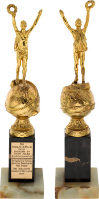 Buddy Adler Golden Globe Cecil B. DeMille Award With Picture, Memos, and Press Clippings (1957)