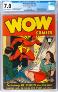 Golden Age (1938-1955):Superhero, Wow Comics #nn (#1) Rockford Pedigree (Fawcett Publications, 1940) CGC FN/VF 7.0 Cream to off-white pages....