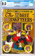 Golden Age (1938-1955):Classics Illustrated, Classic Comics #1 The Three Musketeers - Original Edition (Elliott, 1941) CGC VF 8.0 Cream to off-white pages....