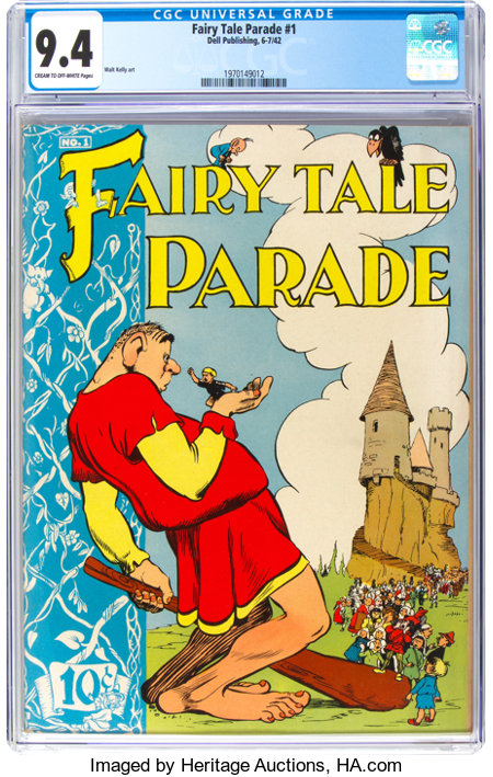 Fairy Tale Parade #1 (Dell, 1942) CGC NM 9.4 Cream to off-white pages....