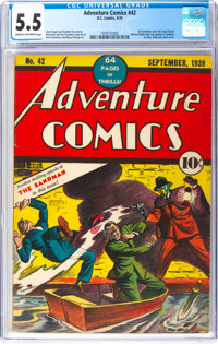 Adventure Comics #42 (DC, 1939) CGC FN- 5.5 Cream to off-white pages