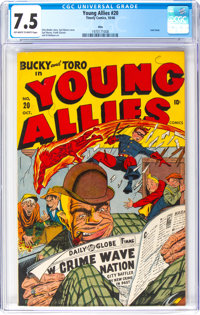 Young Allies Comics #20 Ohio Pedigree (Timely, 1946) CGC VF- 7.5 Off-white to white pages
