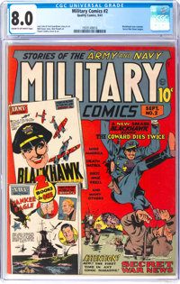 Military Comics #2 (Quality, 1941) CGC VF 8.0 Cream to off-white pages