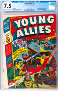 Golden Age (1938-1955):Superhero, Young Allies Comics #3 (Timely, 1942) CGC VF- 7.5 Cream to off-white pages....