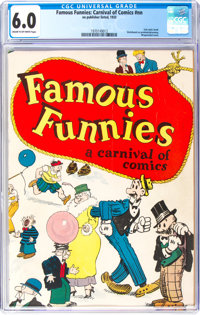 Famous Funnies: A Carnival of Comics #nn (Eastern Color, 1933) CGC FN 6.0 Cream to off-white pages