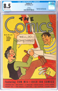 The Comics #1 File Copy (Dell, 1937) CGC VF+ 8.5 Cream to off-white pages