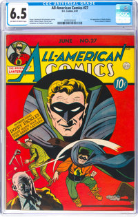 All-American Comics #27 (DC, 1941) CGC FN+ 6.5 Off-white to white pages