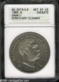 Coins of Hawaii: , 1883 S$1 Hawaii Dollar XF45--Scratched, Cleaned--ANACS, AUDetails....
