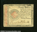 Continental Congress Issue January 14, 1779 $20 Very Fine. This appealing note has a strong signature and light edge han...