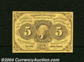 Fr. 1230 5c First Issue Very Choice New. This 5¢ has nice original surfaces, and is close to Gem