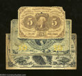 Fractional Currency:First Issue, Three Different Denominations Part I.