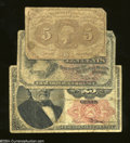 Fractional Currency:First Issue, Three Different Denominations Part II.