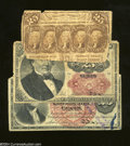 Fractional Currency:First Issue, Three Different 25c Fractionals Part I.... (3 notes)