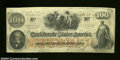 Confederate Notes:1862 Issues, T41 $100 1862. Very Fine-Extremely Fine. Solid edges ...