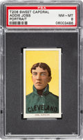 Baseball Cards:Singles (Pre-1930), 1909-11 T206 Sweet Caporal 350 Addie Joss (Portrait) PSA NM-MT 8 - Pop Two, Two Higher Confirmed for Brand! ...