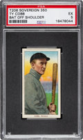 Baseball Cards:Singles (Pre-1930), 1909-11 T206 Sovereign 350 Ty Cobb (Bat Off Shoulder) PSA EX 5 - Pop Three, Two Higher for Brand/Series. ...
