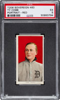 Baseball Cards:Singles (Pre-1930), 1909-11 T206 Sovereign 460 Ty Cobb (Portrait-Red) PSA EX 5 - Pop One, None Higher for Brand/Series! ...
