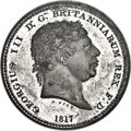 "Great Britain, Great Britain: George III white metal Proof Pattern Piefort ""Three Graces"" Crown 1817 PR63 NGC,..."