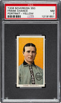 Baseball Cards:Singles (Pre-1930), 1909-11 T206 Sovereign 350 Frank Chance (Portrait-Yellow) PSA NM 7 - Pop One, One Higher for Brand/Series. ...