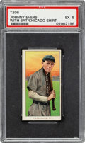 Baseball Cards:Singles (Pre-1930), 1909-11 T206 Sovereign 460 Johnny Evers (With Bat-Chicago on Shirt) PSA EX 5 - Pop One, Four Higher for Brand. ...