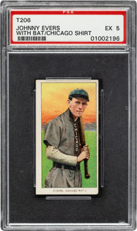 1909-11 T206 Sovereign 460 Johnny Evers (With Bat-Chicago on Shirt) PSA EX 5 - Pop One, Four Higher for Brand