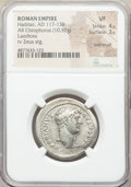 Ancients:Roman Imperial, Ancients: Hadrian (AD 117-138). AR cistophorus (27mm, 10.52 gm, 12h). NGC VF 4/5 - 3/5, overstruck....