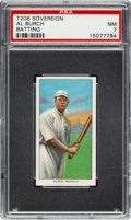 Baseball Cards:Singles (Pre-1930), 1909-11 T206 Sovereign 150 Al Burch (Batting) PSA NM 7 - Pop One, None Higher for Brand! ...
