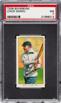 Baseball Cards:Singles (Pre-1930), 1909-11 T206 Sovereign 460 Chick Gandil PSA NM 7 - Pop One, One Higher for Brand. ...
