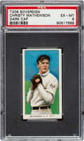 Baseball Cards:Singles (Pre-1930), 1909-11 T206 Sovereign 350 Christy Mathewson (Dark Cap) PSA EX-MT 6 - Pop One, One Higher for Brand/Series. ...