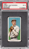Baseball Cards:Singles (Pre-1930), 1909-11 T206 Sovereign 150 Christy Mathewson (White Cap) PSA EX 5 - Pop One, Two Higher for Brand. ...