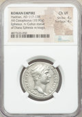 Ancients:Roman Imperial, Ancients: Hadrian (AD 117-138). AR cistophorus (27mm, 10.90 gm, 7h). NGC Choice VF 4/5 - 4/5....