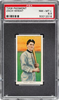 Baseball Cards:Singles (Pre-1930), 1909-11 T206 Piedmont 350-460/25 Zack Wheat PSA NM-MT+ 8.5 - TheFinest T206 Wheat Known! ...