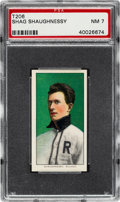 Baseball Cards:Singles (Pre-1930), 1909-11 T206 Old Mill Shag Shaughnessy PSA NM 7 - Only One Higher Old Mill Back! ...