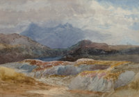 Czech and Italian Schools (18th Century) A Group of Three Landscapes (3 works) Watercolor on paper, each 8-1/2 x 12-1...