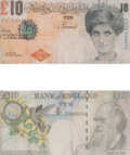 Prints & Multiples:Contemporary, Banksy X Banksy of England. Di-Faced Tenner, 10 GBP Note (2 works). Offset lithograph in colors on paper, each. 3 x 5-5/...