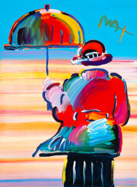 Peter Max (American, b. 1937) Umbrella Man, 1999 lithograph with hand coloring on paper 32-1/4 x 24 inches (81.9 x 61