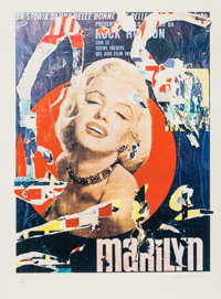 Mimmo Domenico Rotella (1918-2006) Marilyn 3, 1979 Serigraph in colors on Somerset paper 30 x 24