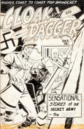 Original Comic Art:Covers, Fox Comics Artist Cloak and Dagger #101 Cover Original Art, Color Guide, and 2 Production Pages Group of 4 (Fox, c... (Total: 4 Items)