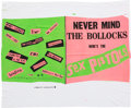 Music Memorabilia:Posters, Sex Pistols Never Mind the Bollocks Posters and Banner(1977). . ...