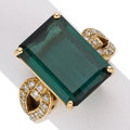 Estate Jewelry:Rings, Tourmaline, Diamond, Gold Ring. ...