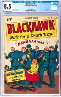 Blackhawk #9 (Quality, 1944) CGC VF+ 8.5 Off-white pages