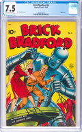 Brick Bradford #6 (Better Publications, 1948) CGC VF- 7.5 Off-white to white pages
