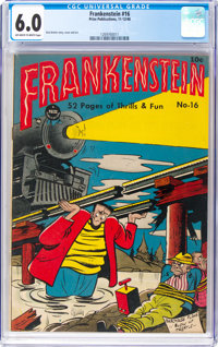 Frankenstein Comics #16 (Prize, 1948) CGC FN 6.0 Off-white to white pages