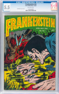 Golden Age (1938-1955):Horror, Frankenstein Comics #24 (Prize, 1953) CGC FN- 5.5 Off-white pages....