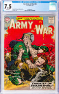 Silver Age (1956-1969):War, Our Army at War #84 (DC, 1959) CGC VF- 7.5 White pages....